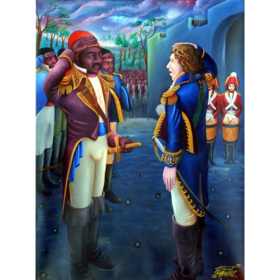 Dessalines Recevant des Honneurs